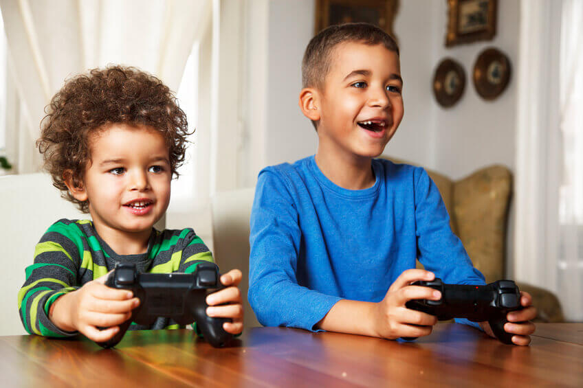 children, teens and video games